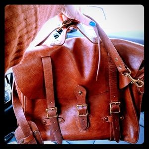 J.Crew Montague genuine leather messenger bag!!